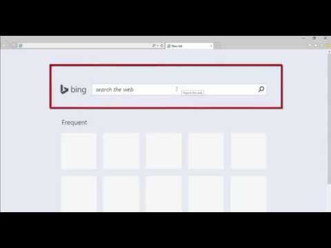 How to remove Bing Search box from IE11 new tab page