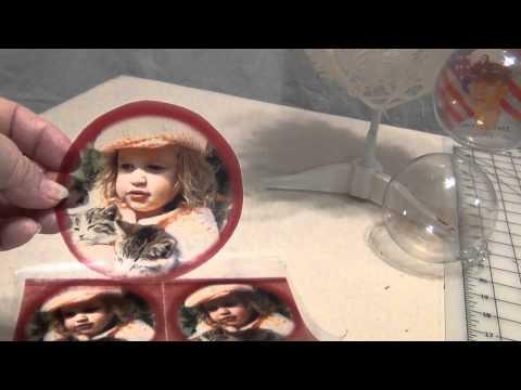 HOW TO MAKE CUSTOM PHOTO GLASS CHRISTMAS ORNAMENTS