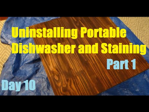 Removing Portable Dishwasher and Staining Part 1 - Day 10   DIY Distress