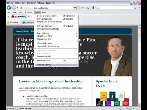 How to set your homepage in Internet Explorer
