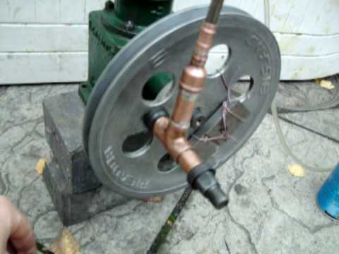 Hot air Stirling Engine - converted air compressor