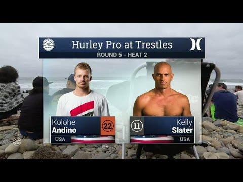 Kolohe Andino vs. Kelly Slater Round Five, Heat 2 - 2016 Hurley Pro at Trestles