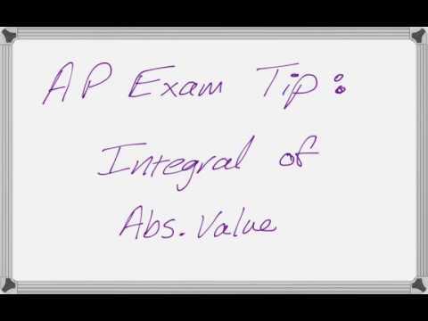 AP Calculus Exam Tip: Definite Integral of Absolute Value Function