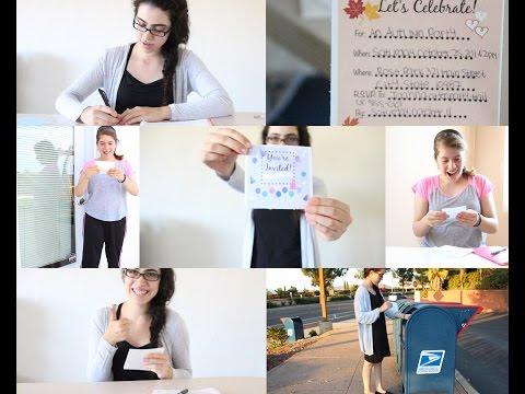 Ladylike Charm: Sending Pretty Party Invitations-The Basics - Classy Celebration Series