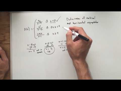 Vertical and Horizontal Asymptotes of a Piece Wise Function