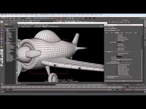 Maya 2013: creating a turntable animation, part 2 -- the wireframe