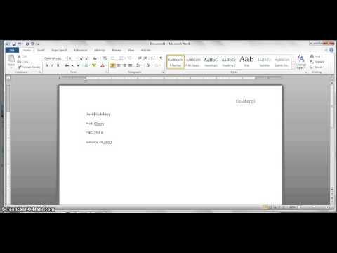 MLA formatting A1