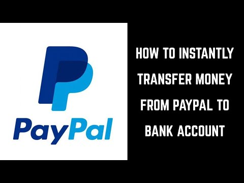 How to Instantly Transfer Money from PayPal to Bank Account