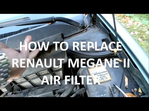 How to replace RENAULT MEGANE II air filter