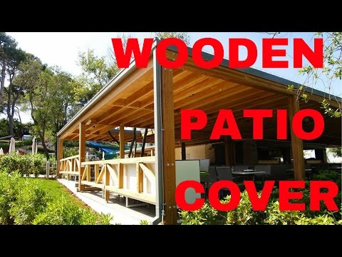 Glulam larch patio cover