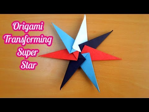 how to make Origami Transforming Super Star paper ninja star by art life