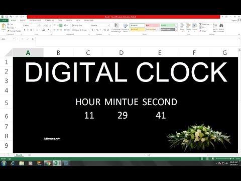 #42 (Hindi) MS Excel Digital Clock