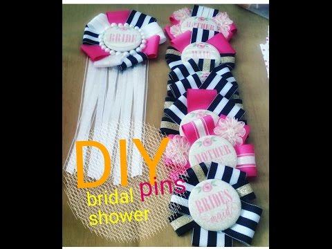 DIY Bridal Shower Pins #WeddingBells
