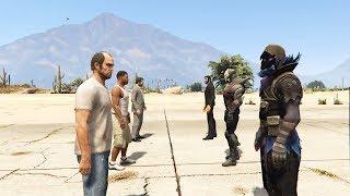 GTA V PC Lamar Kills Franklin - Franklin Joins The Ballas