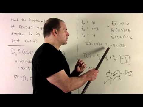 Directional Derivative of f(x,y,z) = xy + yz
