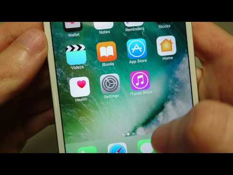 iPhone 7 How to Move Apps Icons (iOS 10)