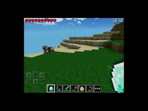 Minecraft Pocket Edition - Unlimited Diamonds and Lava Glitch 0.7.4 iPod/iPad/iPhone