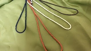 Como hacer un Cordón de Trenza con cuatro cabos - How to make.a braid cord with four corners