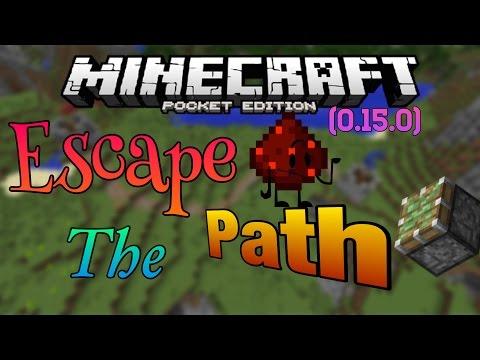 (0.15.0) Escape the Path (Piston Map)- Minecraft Pocket Edition Adventure Map!