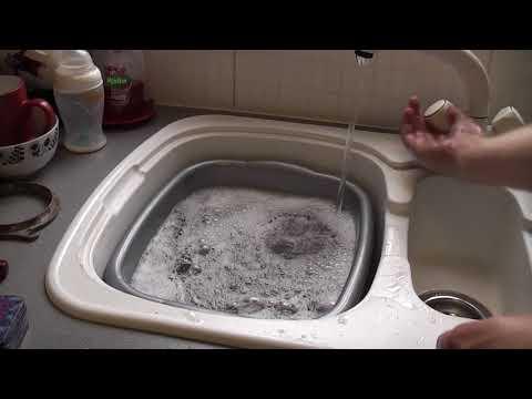 Washing a VINTAGE Hoover cloth bag!