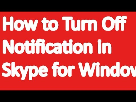 how to turn off notification in skype for windows 10