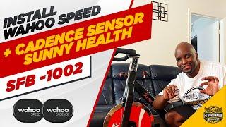 DIY  Smart Bike Setup Sunny Health SF-B1002 + Wahoo Sensors Install