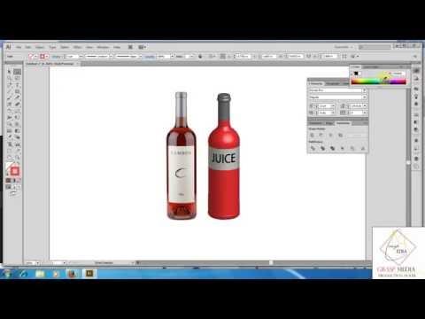 Illustrator Tutorial | Graphic Design | 3D Bottle