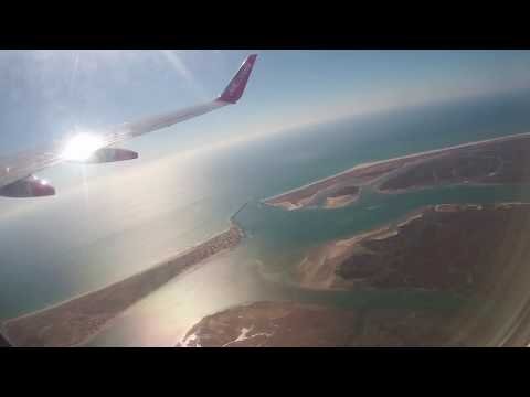 Take-off from Faro Airport and Flight North over the whole of Portugal - 20th October, 2017