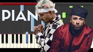 Nicky Jam X  EQUIS J. Balvin Piano Midi tutorial Sheet app Cover Karaoke