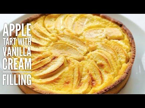 Alsatian-Style Apple Tart (with Vanilla Cream/custard filling) - Very easy to make