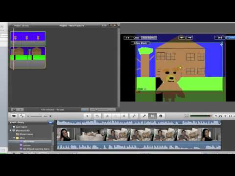 How to make animation in Imovie