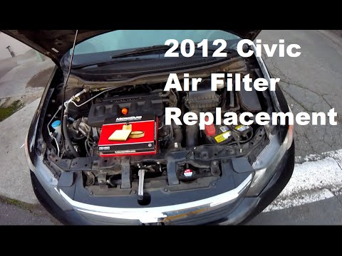 DIY: 2012 Honda Civic Air Filter Replacement