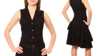 VGS-101: Vintage Goth black cotton cambric skirt.