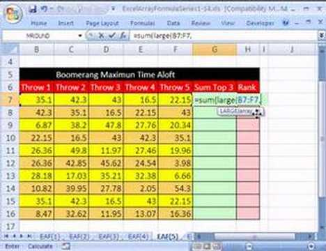 Excel Array Formula Series #5: SUM 3 Largest Values