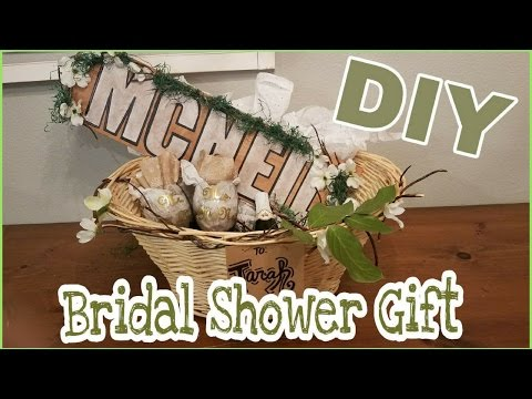 INEXPENSIVE DIY BRIDAL SHOWER GIFT