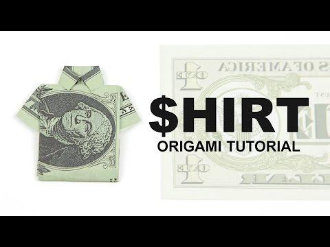 Easy Origami Money Shirt Tutorial 👔 DIY 👔 Paper Kawaii
