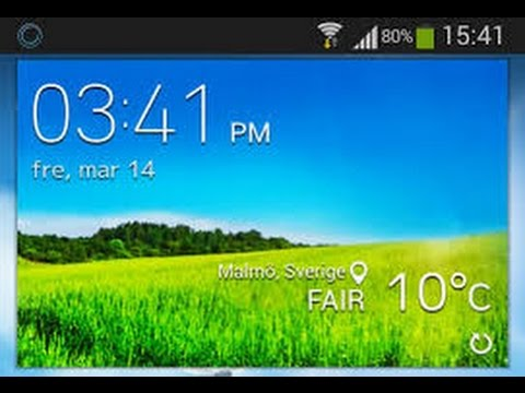 How to get galaxy s5 weather widget main (NO ROOT)