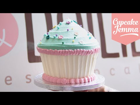 Giant Cupcake Masterclass How-To   Cupcake Jemma