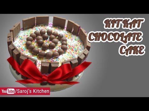KIT KAT & ICE CREAM CAKE RECIPE