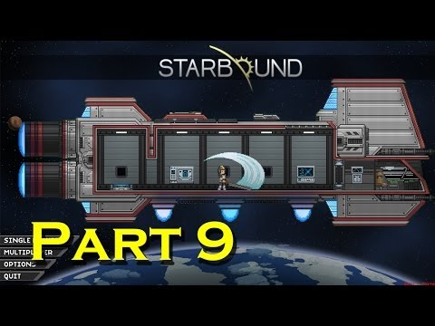 Starbound Let's Play - Episode 9 - Guns and Glitch Villagers