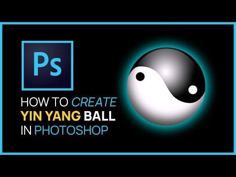PhotoshopCS4: How To Make Ying Yang Ball - FULL TUTORIAL!!!