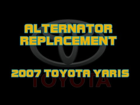 ⭐ 2007 Toyota Yaris - How To Replace The Alternator