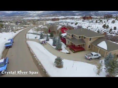 Crystal River Spas Winter Hot Tub Installation