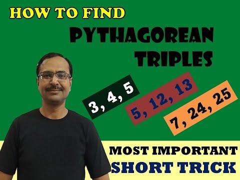 Trick 22 - Shortcut to Make Pythagorean Triplets