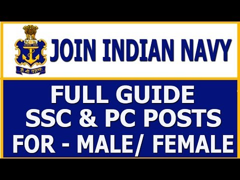 How to Join Indian Navy for SSC & PC Posts, Male/Female | All India | Full Tutorial