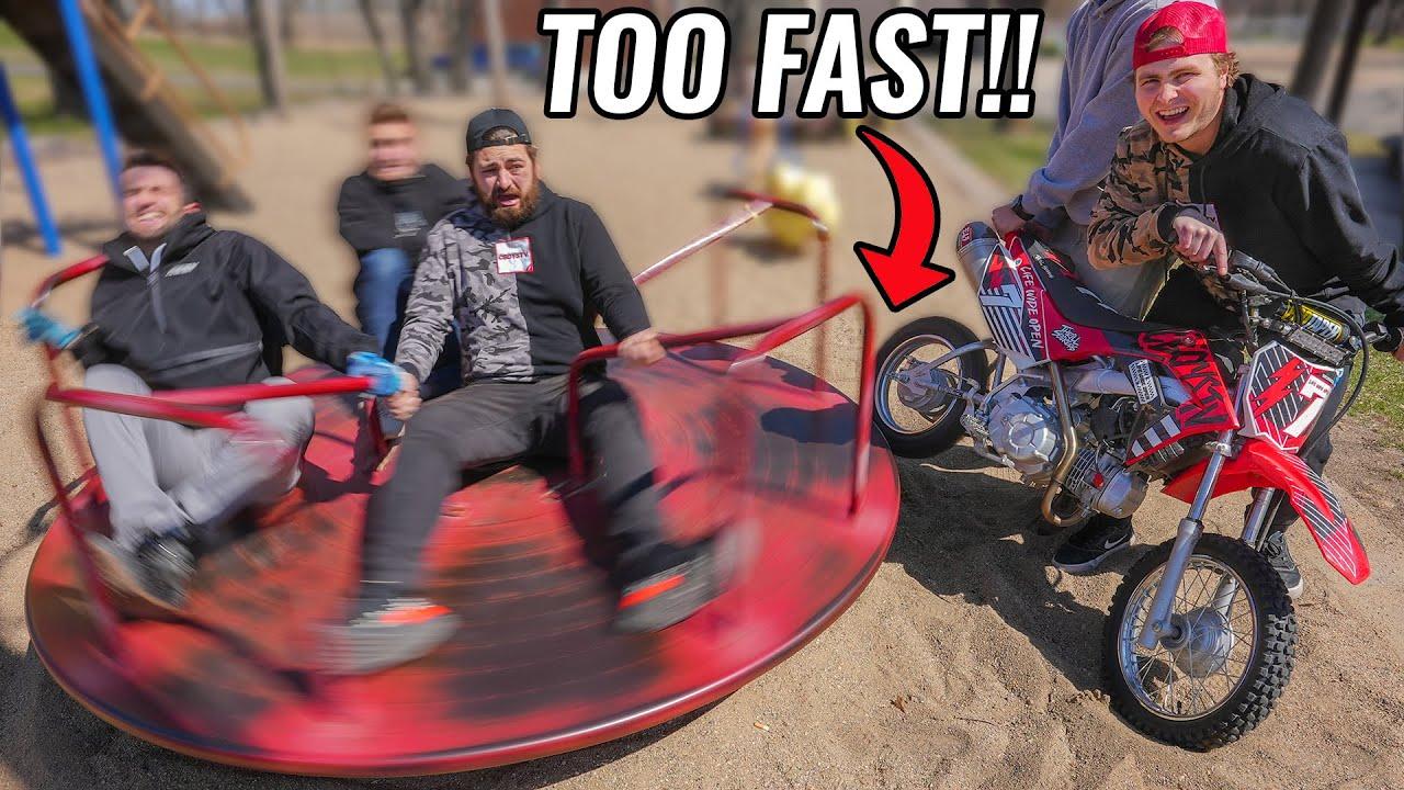Dirt Bikes at the Playground