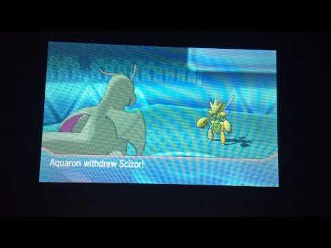 Pokemon Alpha sapphire wifi battle#2:Bisharp's quick claw!!!!!!