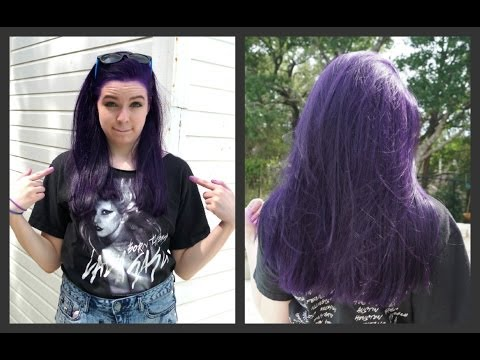 How to Dye Your Hair Purple (NO BLEACH)!!!!