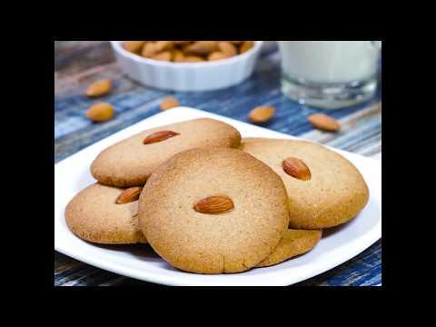 Eggless Almond Cookies |  Eggless Almond Cookies Recipe