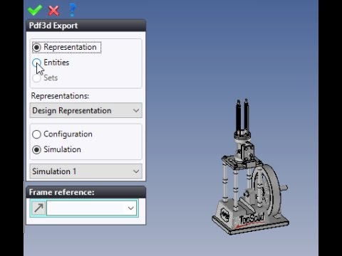 TopSolid 7 :Export to PDF Simulation